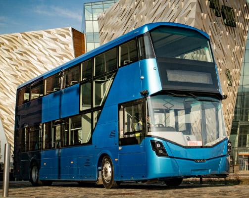 WrightBus environment friendly double deck hydrogen bus